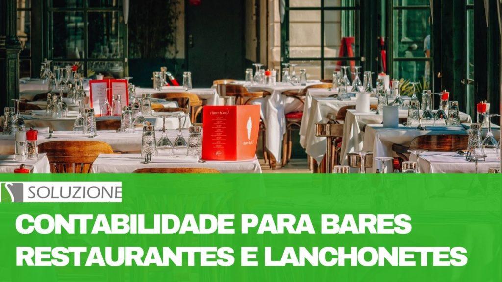 contabilidade para restaurantes e bares