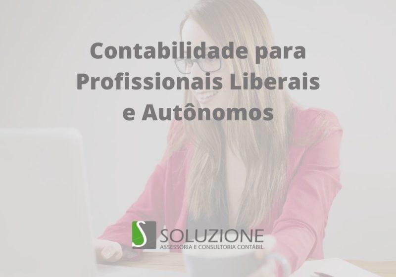 contabilidade para profissionais liberais e autônomos em São Paulo
